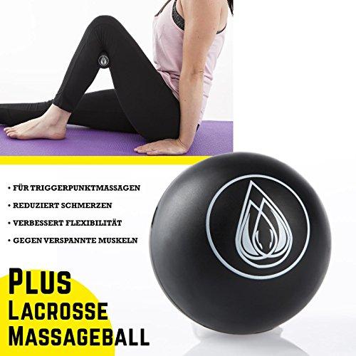 TeamSoda Fitness Massage-Set: 2 in 1 Faszienroller + Lacrosse Massageball + Speed rope - 3