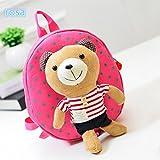 Babyrucksack Kindergartenrucksack Mini Backpack Rucksack Cartoon Bärchen (rosa gestreift)