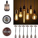 GreenSun Vintage Edison E27 Lampenfassung Antike Sockel Lampe Fassung Pendelleuchte Zubehör