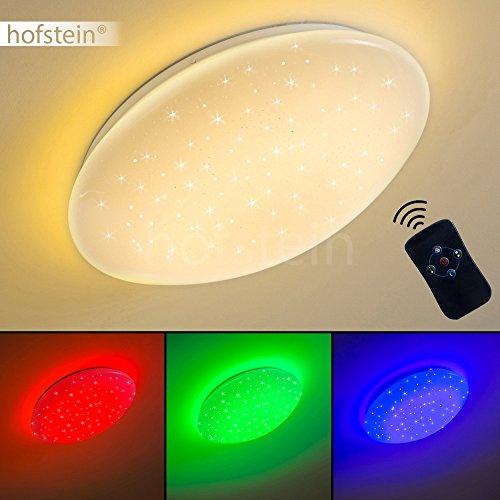 Runde LED Deckenleuchte Foxes mit Sternen und RGB Farbwechsler - Deckenspot mit Fernbedienung und farbigem Licht - Deckenlampe mit eingebauten LEDs - Dimmbar - Nachtlichtfunktion