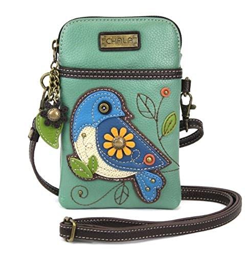CHALA Umhängetasche für Handys, PU-Leder, mehrfarbig, mit verstellbarem Riemen -