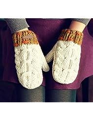 Longless Señoras de otoño e invierno, más estudiantes de grueso de cachemir, mitones de punto grueso de lana
