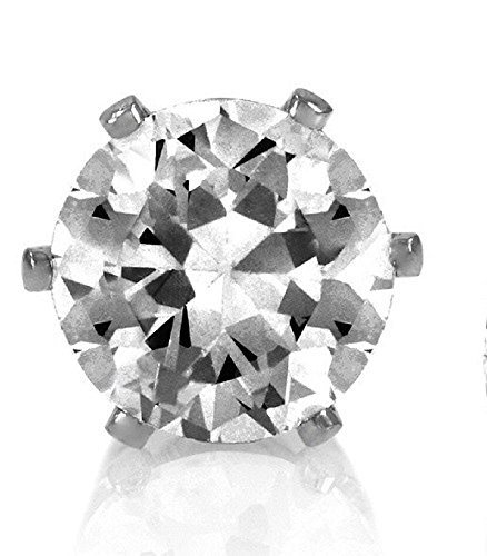 6mm Crystal Magnetic Stud Earrings Round Non Pierced Magnet Clip ON for Mens Boys