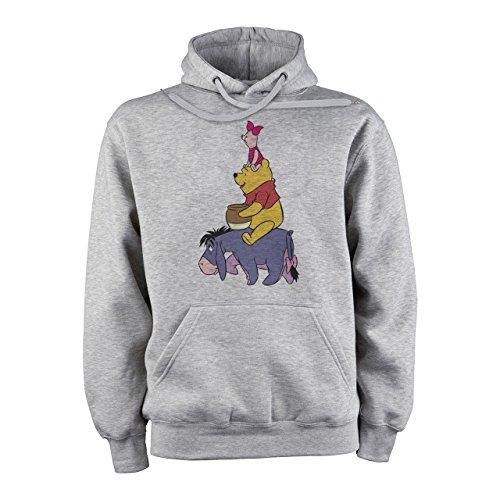 Winnie The Pooh Logo Eeyore Pooh And Piglet Tower Sitting XXL Unisex Hoodie (Eeyore Hoodie)
