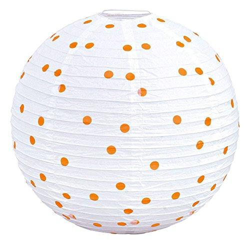 Design Pendel Leuchte Kugel gepunktet weiß orange Hänge Lampe Beleuchtung Eglo 22947