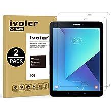 [2-Unidades] Protector de Pantalla Samsung Galaxy Tab S3 9.7'' / S2 9.7'', iVoler Cristal Vidrio Templado Premium Para Samsung Galaxy Tab S3 9.7'' (SM-T820 / SM-T825) / S2 9.7'' (SM-T810 / SM-T815) [9H Dureza] [Alta Definicion 0.3mm] [2.5D Round Edge]