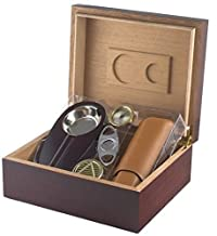 Orleans Group Deluxe Humidor Giftset, Cherry