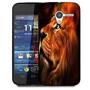 Snoogg Lion Heart Designer Protective Phone Back Case Cover For Moto X / Motorola X
