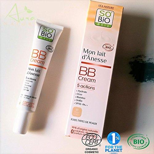 BB cream au lait d'ânesse bio beige lumière 40mL SO'BiO étic