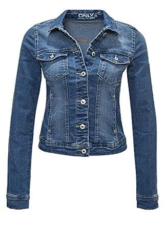 Only Damen Jeansjacke Übergangsjacke Leichte Jacke (S, Dunkelblau)