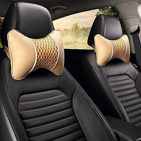 DMMSS Kfz Kopfstütze Paar Eis Designer Seidenkissen Autositz Kopfstütze Pad Autozubehör . 1