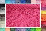 Minky ultra doux tissu à pois 50 cm x 155 cm (Fuchsia)