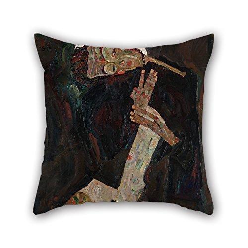 beautifulseason Coussin Cases de Peinture à l'huile Egon Schiele – Le Parolier, pour Une Salle de Danse, Voiture, Banc, Valentine, Père, Monther 50,8 x 50,8 cm/50 par 50 cm (Deux côtés)