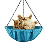 NSHK Cat Hängematte Hängende Art Kätzchen Bett Round Pet Canvas Sling Attic Atmungsaktive Loft für das Leben im Sommer, Blue