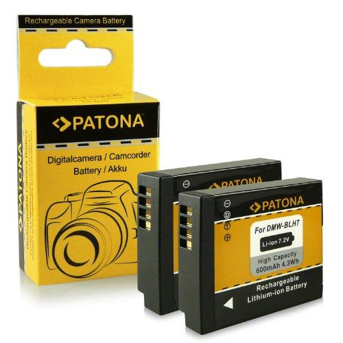 2x Batería DMW-BLH7 / DMW-BLH7E para Panasonic Lumix DMC-GM1 [Li-Ion - 600mAh - 7.2V]