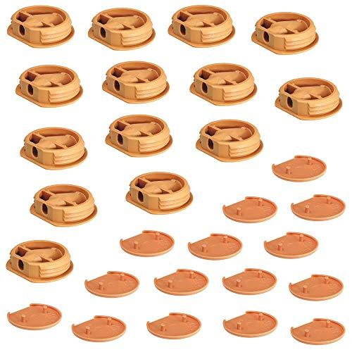 Gedotec Korpusverbinder Caravan Möbelverbinder zum Schrauben & Einpressen für leichte Möbel-Verbindungen | Ø 26 mm | Kunststoff beige | 25 Set - Verbindungsbeschläge für Wohnmobil - Boote & Küche