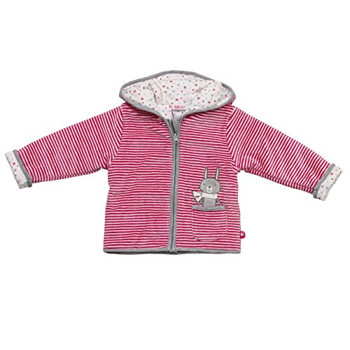 Eltern by Salt & Pepper Baby-Mädchen Sweatshirt E Jacket Nicki Rabbit Bunny, Rosa (Magenta 880), 68