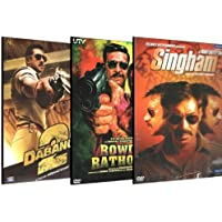 Set of 3 DVD Collection (Rowdy Rathore / Dabangg 2 / Singham) by Akshay Kumar