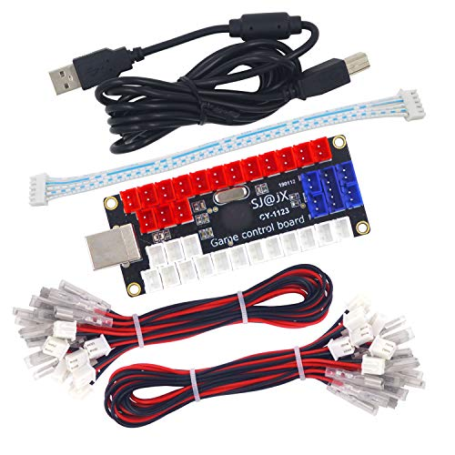SJ@JX Arcade LED DIY Kit USB Encoder Board Controller Button Joystick LED 5V Power SANWA -