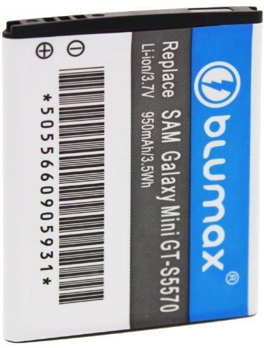 Blumax ersetzt EB494353VU Akku (3,7V, 950mAh) für Samsung Galaxy Mini S5570/S5780 Wave 578/S7230 Wave 723