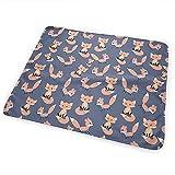 Wickeltischauflage,Kindergarten Waldtiere Fuchs Wickelauflage Tragbare Wasserdichte Wickelauflage Für Kinder Jungen Mädchen 50X70Cm