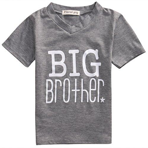 Big-brother-baby-strampelanzug (LYhoneys Jungen Strampelanzug Gr. XS, Grey (Big Brother))