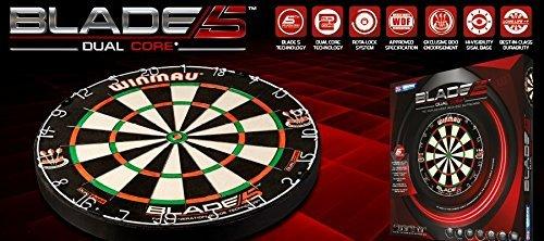 Winmau Steeldartboard Blade IV, beige/schwarz, 3006 - 4