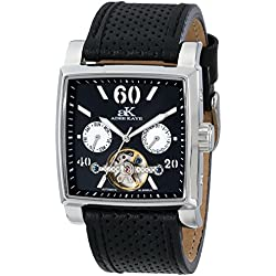 Adee Kaye Unisex ak9043-M/BK Wall Street Analog Display Automatic Self Wind Black Watch