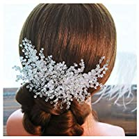 WYEING. Wedding Hair Combtransparent Rhinestone Bridal Hair Accessories for Bride And Bridesmaids Wedding Hair Piece-Silver