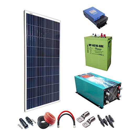 Kit solar 12V 1800W/9000W Tag Laderegler-Pure MPPT 60A Inverter 5000W Onda mit Batterie 80Ah Ladegerät up-gc16600AH -