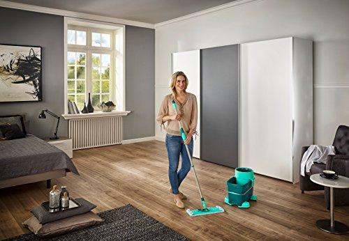 Leifheit CleanTwist System XL - Juego de mopa y Cubo, Color Turquesa