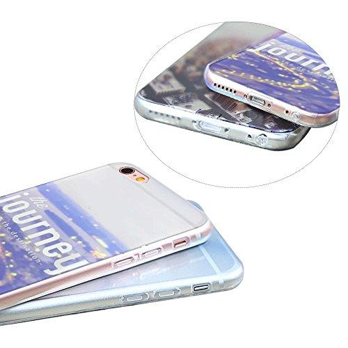 Case iPhone 6S Plus, MOMDAD TPU Hülle für iPhone 6S Plus / 6 Plus Tasche Landschaft Malerei Mustetr Pattern Schutzhülle Ultra Dünn Silikon Drucken Handyhülle Cover Schutz Kratzfeste Handy Tasche Schal Color 14