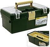 Angelkoffer Werkzeugkoffer 35x20x15cm Kunststoff grün