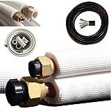 Mono Split und Multisplit Kupferleitungen für 9000 und 12000 BTU Klimaanlage Klimagerät Komplett-Set (2x15m für 9/12000 btu)