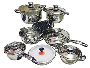 Royal superior 16 piece induction cookware set 16pcsetcbrb for Royal kitchen set