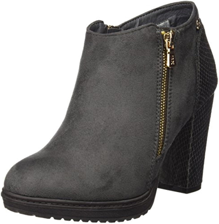 Xti Botin Sra. Antelina Combinada 46004, Zapatos De Tacón, Mujer