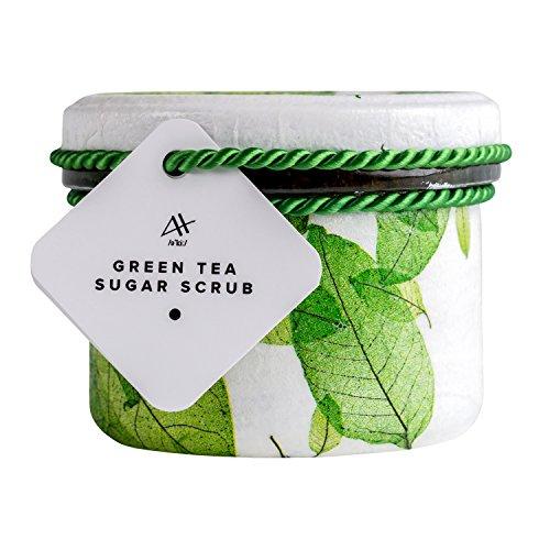 100% Natürlich Vegan Achae Grüntee-Zucker-Peeling 1 Pack (1 x 200 ml) (Glas Brauner Zucker)