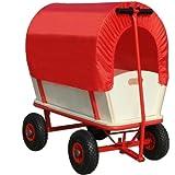 Chariot de transport avec bâche de protection amovible 168x45,5cm - Rouge