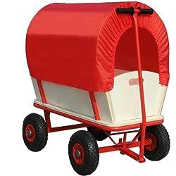 Bollerwagen Transportwagen Handwagen Wagen Transport mit Schutzdach Plane