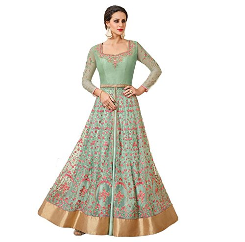 Impressed Collection Buy Sea Green Net Wedding Salwar Kameez