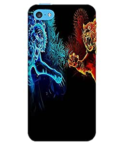 APPLE IPHONE 5C TIGER FIGHT Back Cover by PRINTSWAG