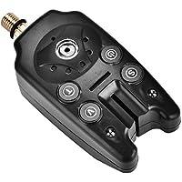Dioche Alarma De Pesca, LED Pesca Electronic Fish Bite Alarma Finder Sonido Indicador De Alerta Luz Stick(Black)