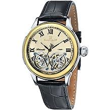Thomas Earnshaw ES-8030-03 - Reloj para hombre con esfera analógica y correa de cuero, color negro
