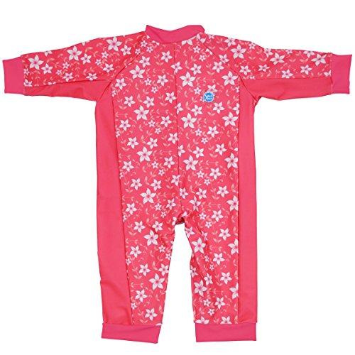 Splash About Baby Einteiliger UV-Schutzanzug, Rosa Blüte, 6-12 Monate, UVAPB6