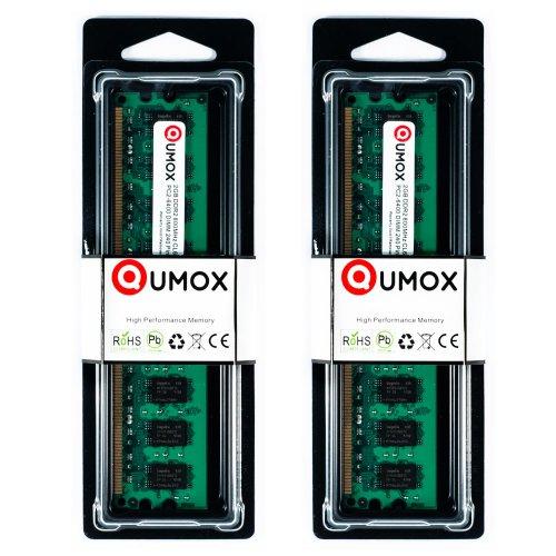 800 Mhz Ddr2 Desktop (QUMOX @ 2x 2GB 4GB DDR2 800MHz PC2-6400 PC2-6300 (240 PIN) DIMM Desktop-Speicher)