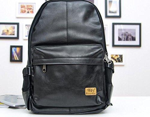 Mode Freizeit reisen Rucksack Rucksack Tasche Persönlichkeit black