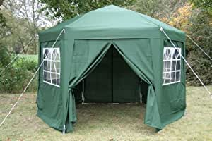 Airwave 3.5mtr Pop Up Gazebo HEXAGONAL Green Fully Waterproof with Six Sides and CarryBag
