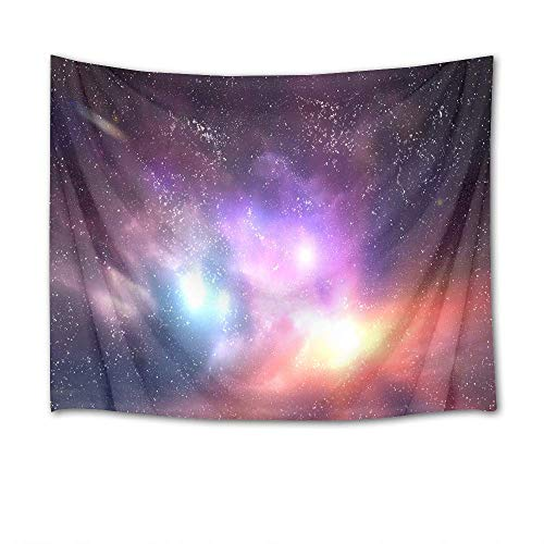 """TRUIOKO Nebula Tapestry Galaxy Tapestry Wall Hanging Bright Colorful Starry Sky in Outer Space Wall Blanket Wall Hanging Wall Hanging for Bedroom Living Room Dorm Wall Tapestry Decor,80"""" X 60"""" Inches"""