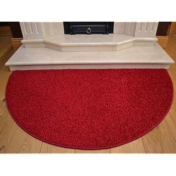 Half Moon Red Rug. Size 70cm x 137cm: Amazon.co.uk