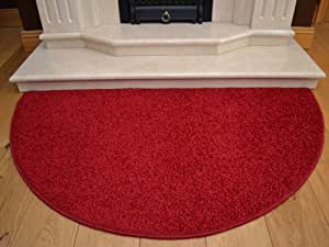 Red Half Moon Rug. Size 70cm x 137cm by Half Moon